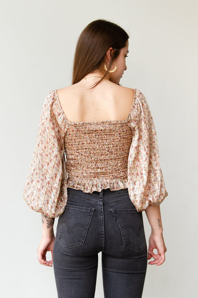 Look Up Floral Top