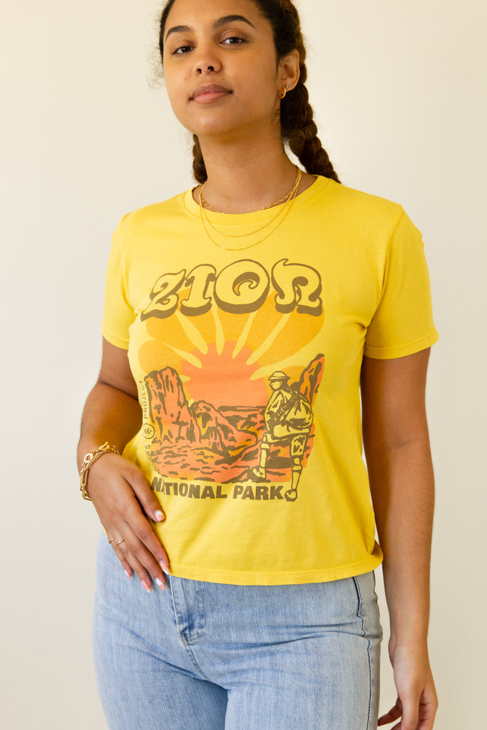 mustard zion graphic tee parks project