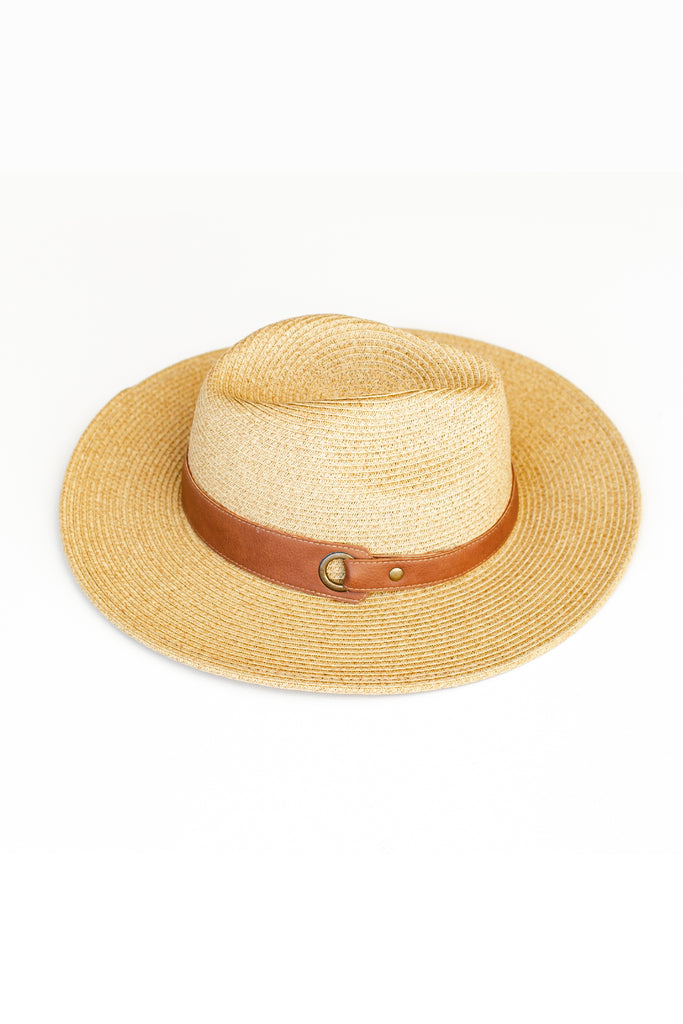 Dark Natural Straw Hat