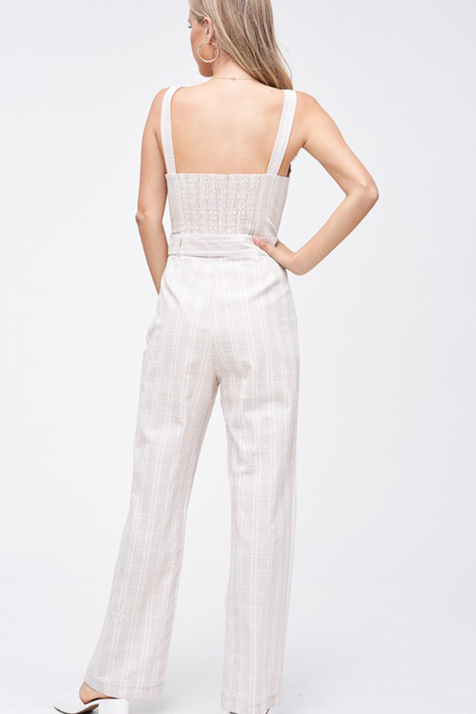 One Day Striped Jumpsuit
