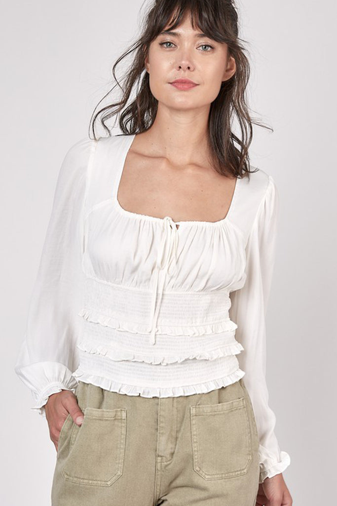 Don't Be A Fool Ruffled Top By For Good