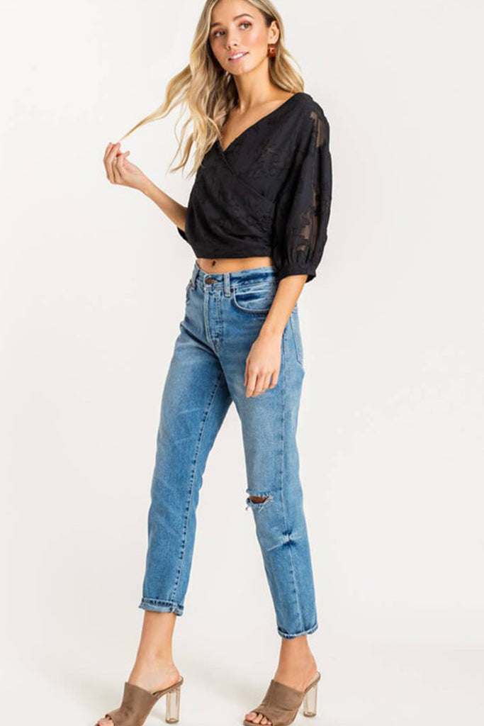 Hold It Down Lace Crop Top by For Good