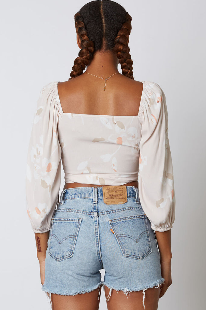 Over There Floral Crop Top
