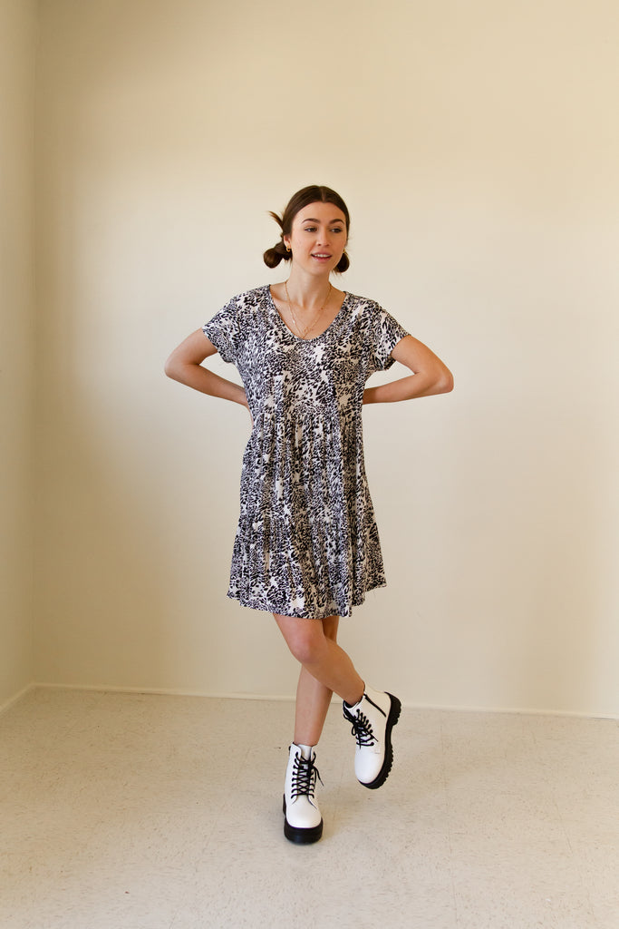 Dive In Animall Print Dress by For Good