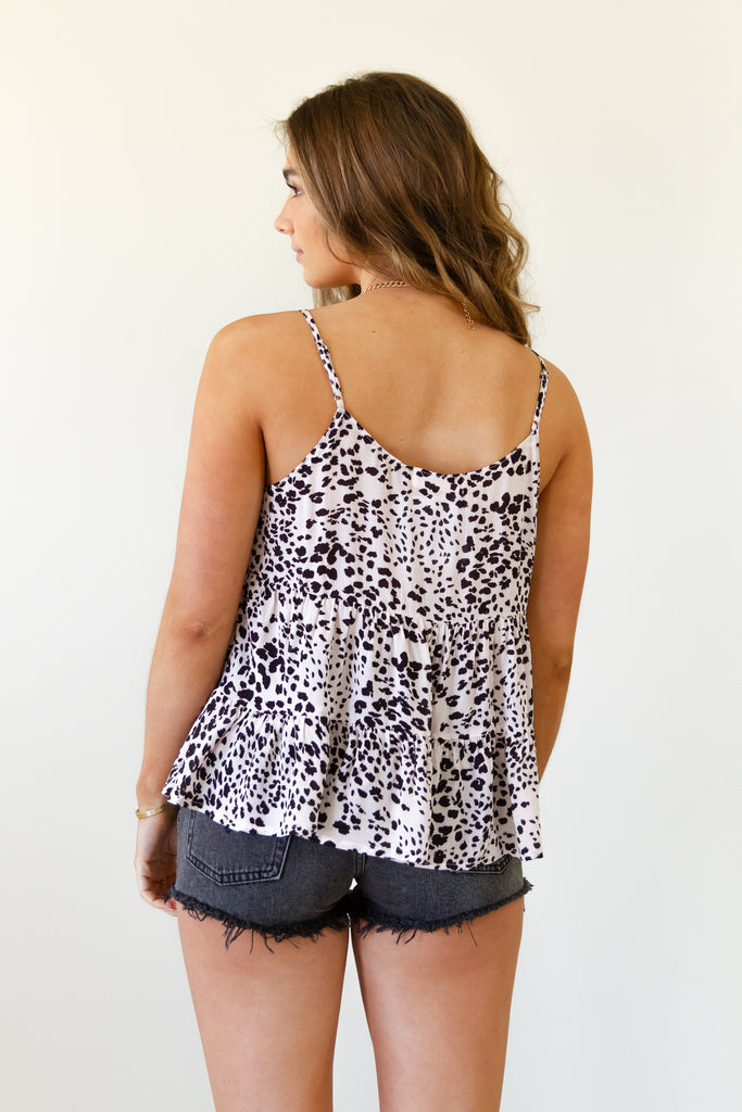 It Girl Animal Print Cami Top by For Good