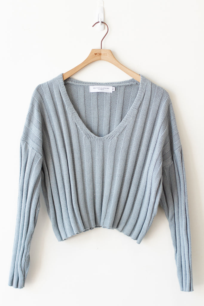 Long Love Ribbed Sweater