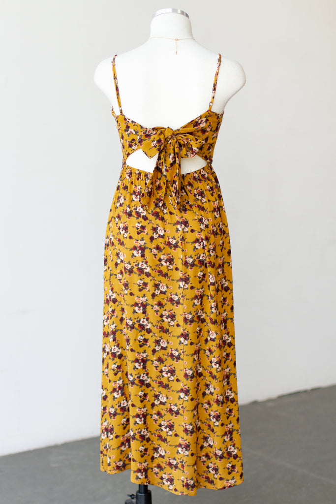 yellow floral maxi dress