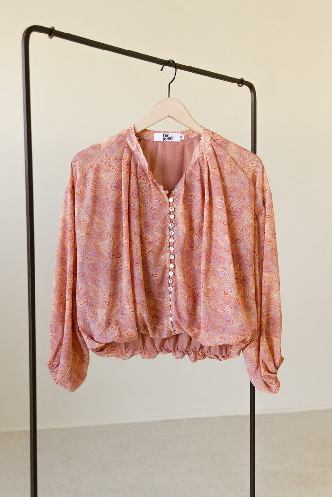 Right There Paisley Print Top by For Good