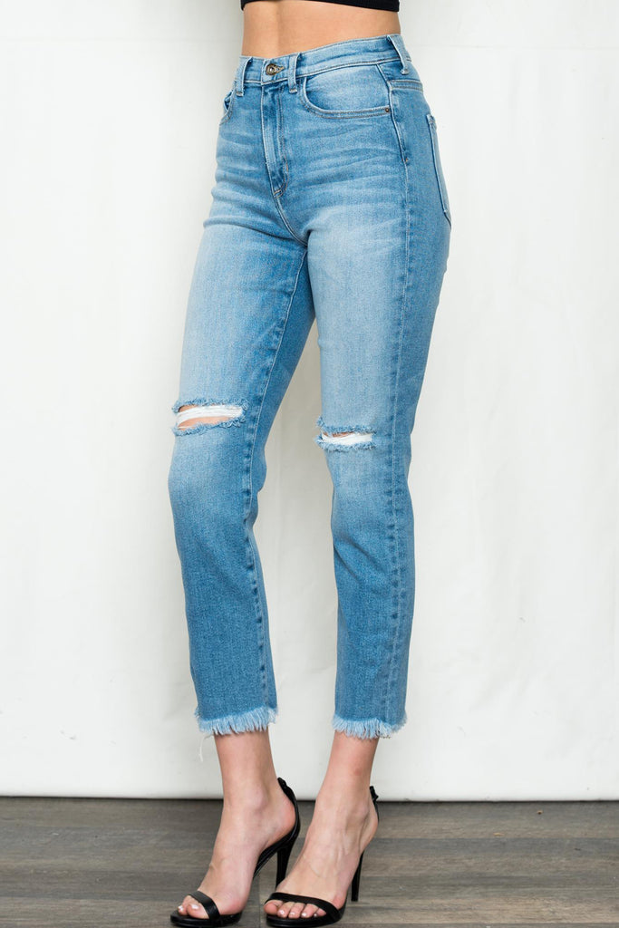 Starting Over High Waisted Denim Jeans