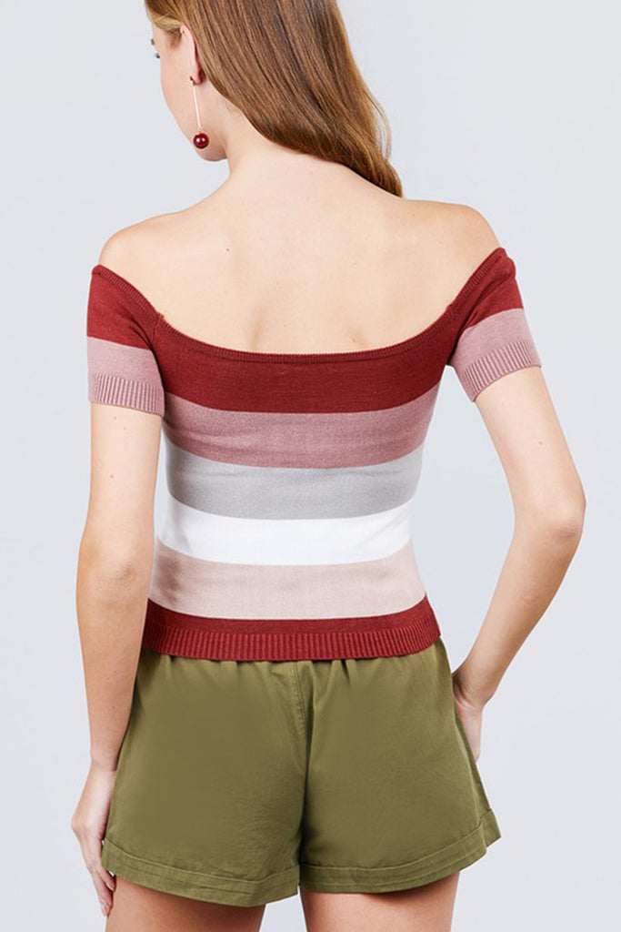 Block Striped OTS Top