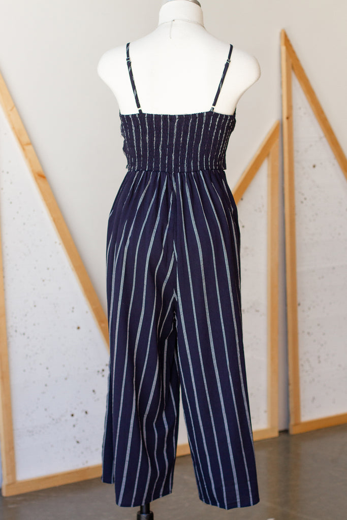 One Of Us Striped Jumpsuit