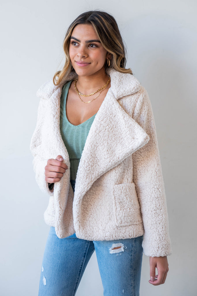 Right On Sherpa Jacket By For Good