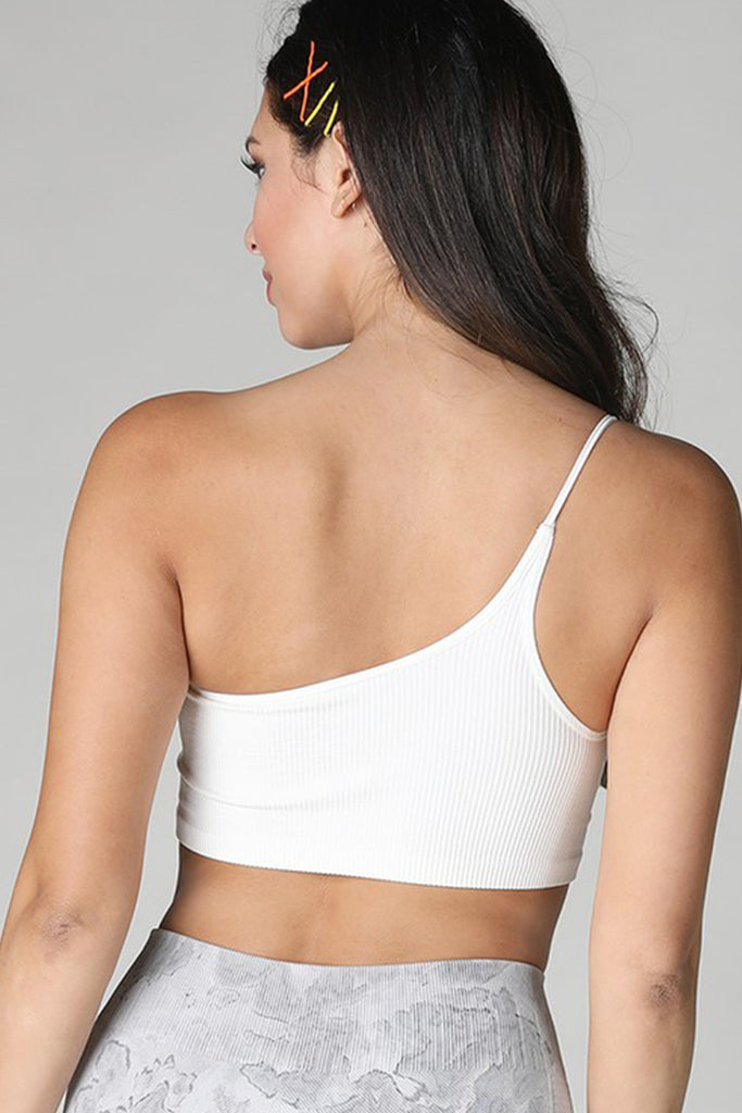 Open Book One Shoulder Bralette by For Good
