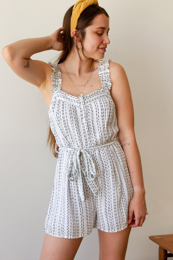 Black/White Romper