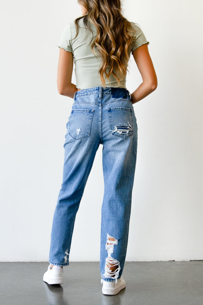 The Hazel Super High Rise Straight Leg By Nectar Premium Denim