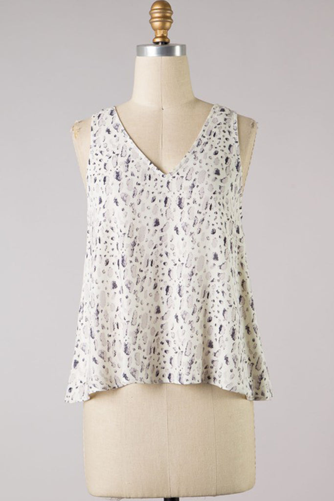 Last To Leave Animal Print Sleeveless Top