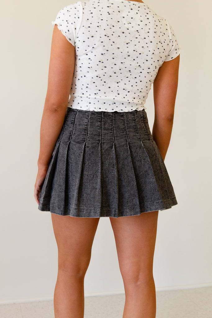 Dream Big Denim Mini Skirt