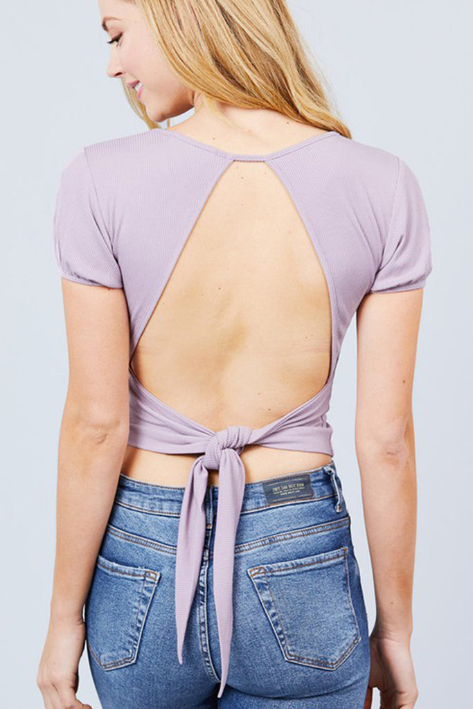 Mauve Short Sleeve Top