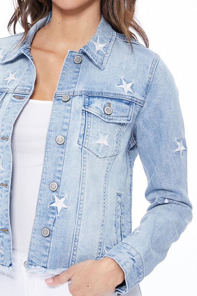 Want To Be With You Star Denim Jacket