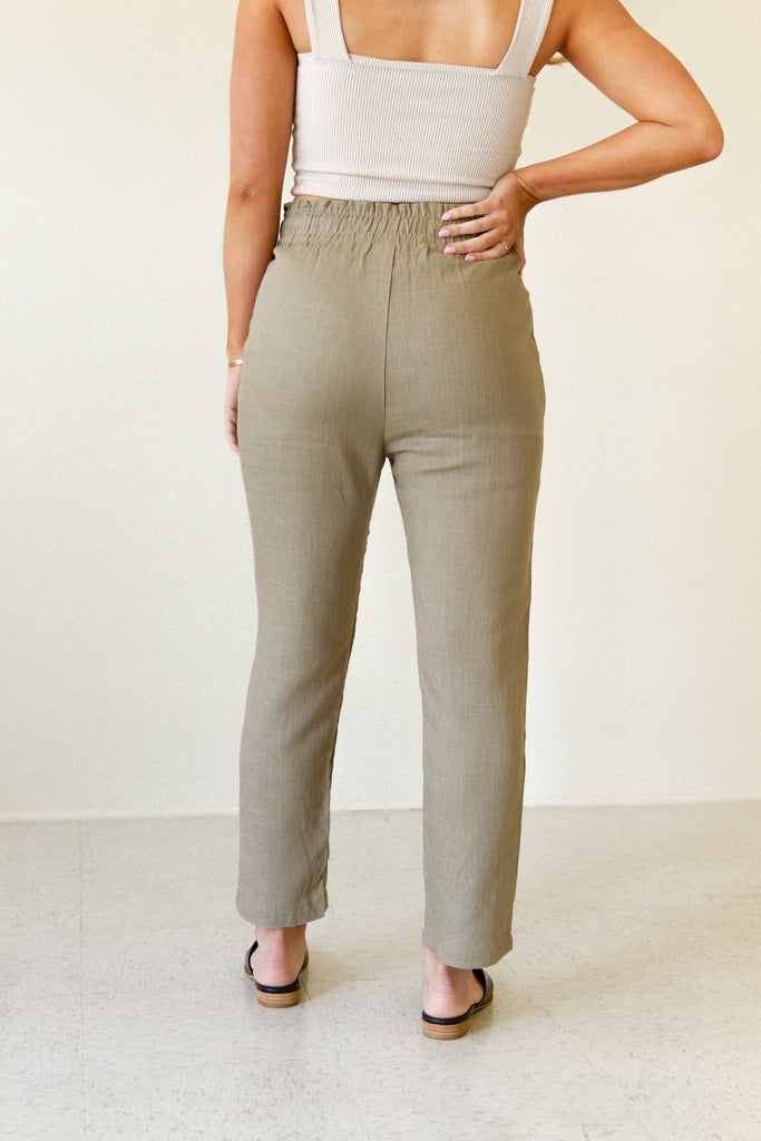 Coming Up Paperbag Waist Pants by For Good