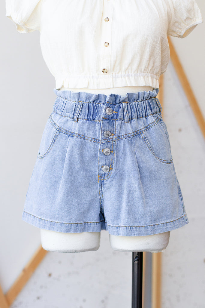Won't Give Up Denim Shorts by For Good