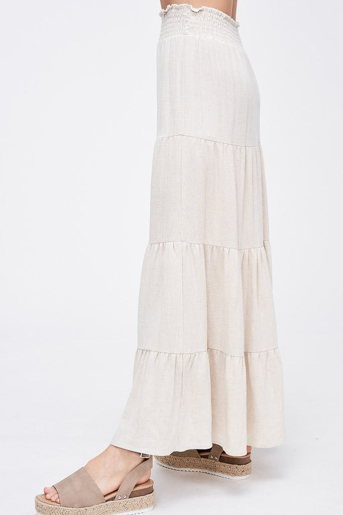 The Getaway Ruffle Maxi Skirt