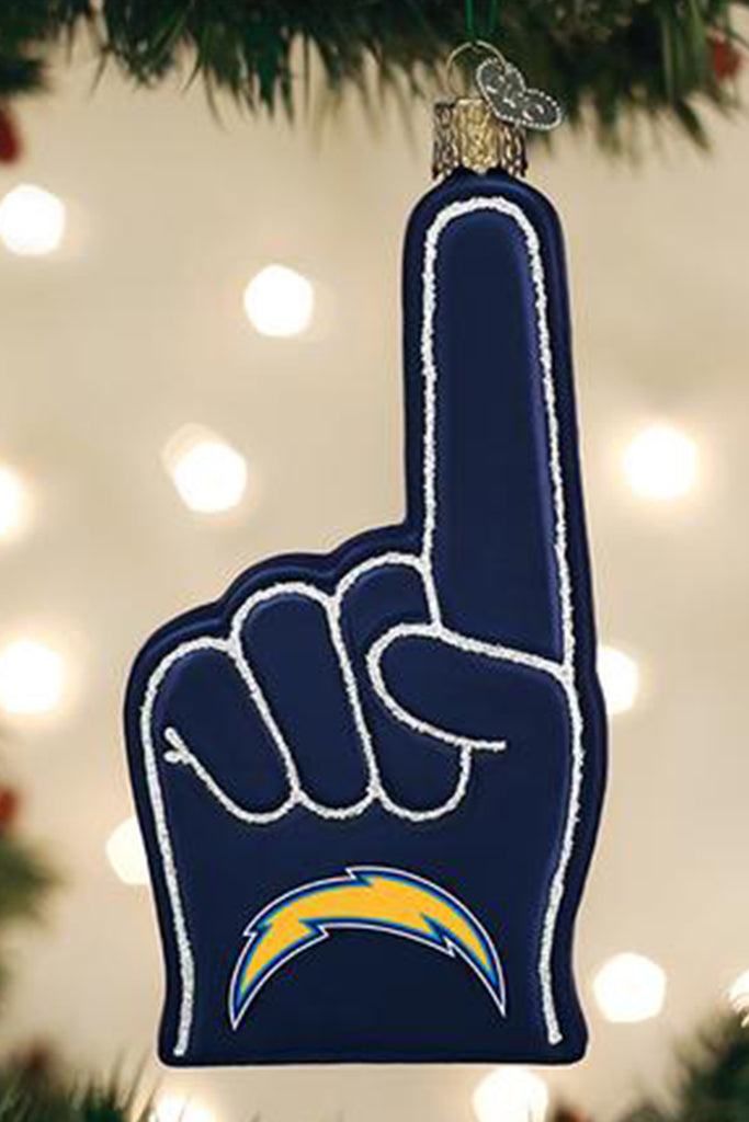 la chargers foam finger ornament