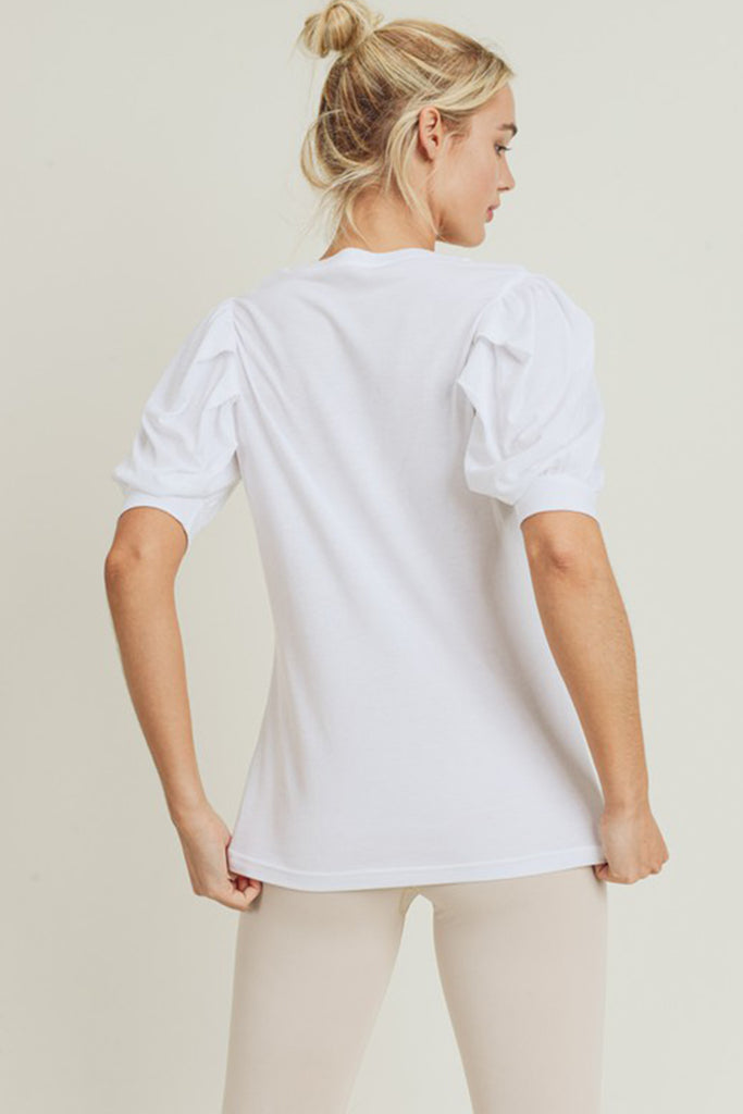 Feels Good Puff Sleeve Top by For Good