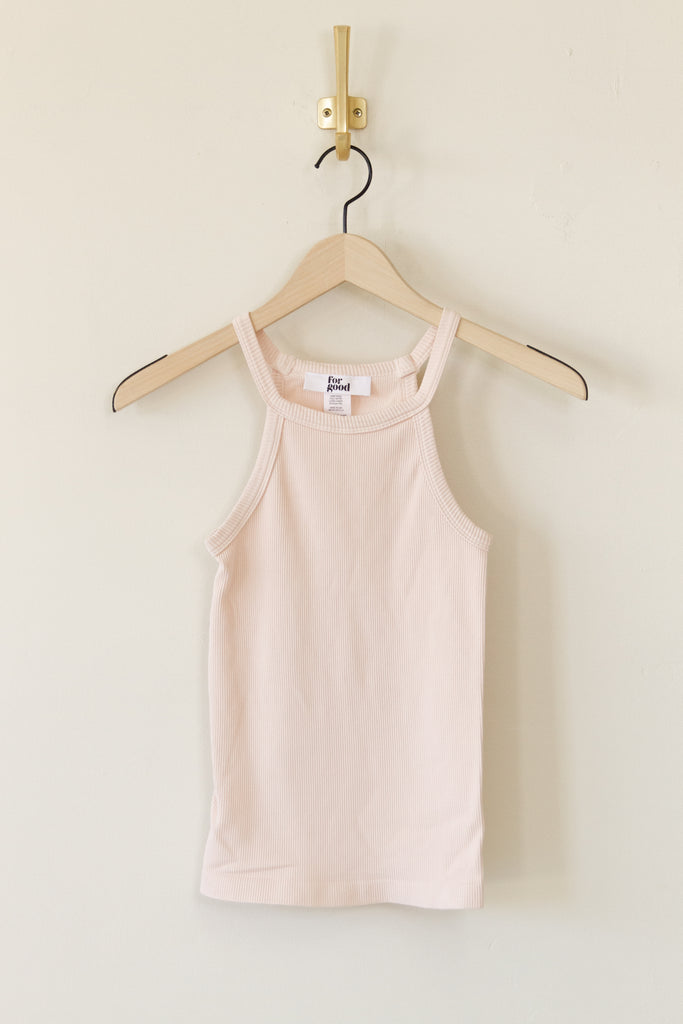 pink ribbed stretchy cami top