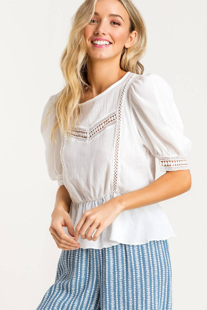 Blind Love Puff Sleeve Top