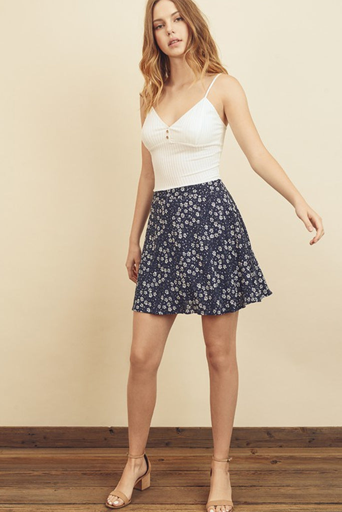 Love On Top Floral Skirt