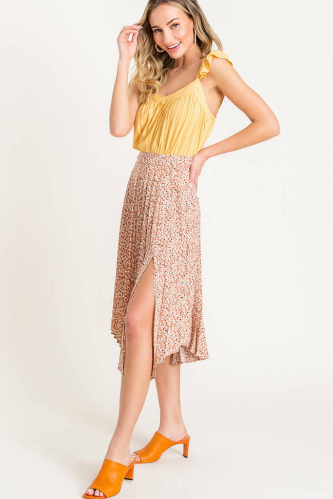 Taupe Asymmetrical Skirt