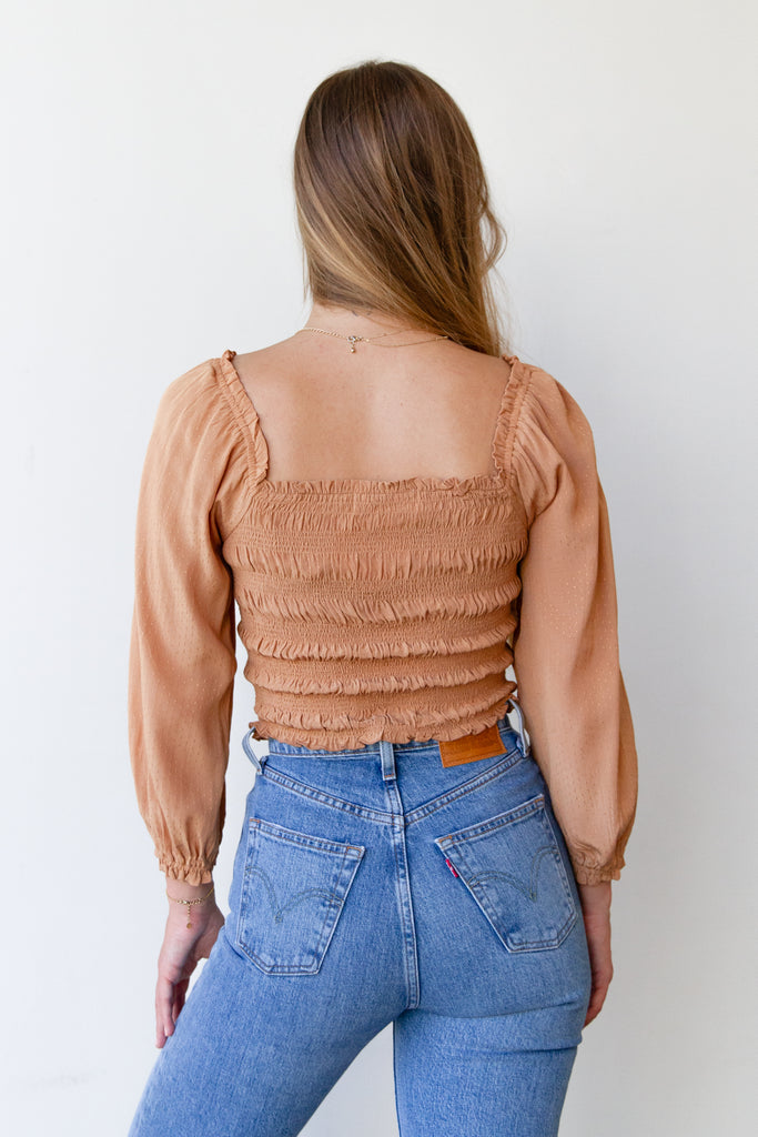 Sunset District Runched Top