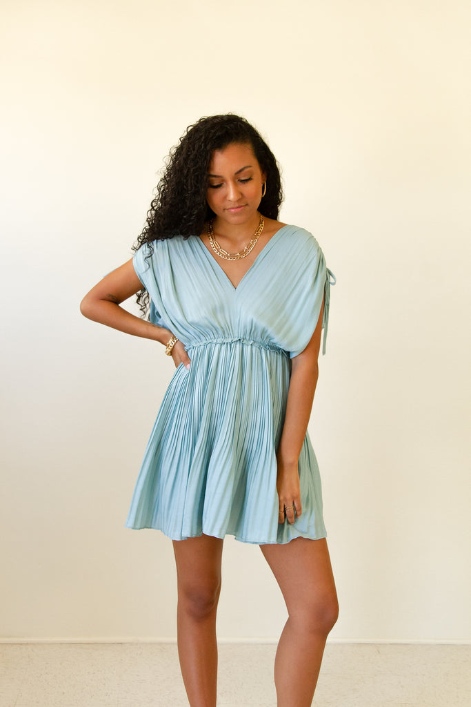 Let Go Pleated Dress by For Good