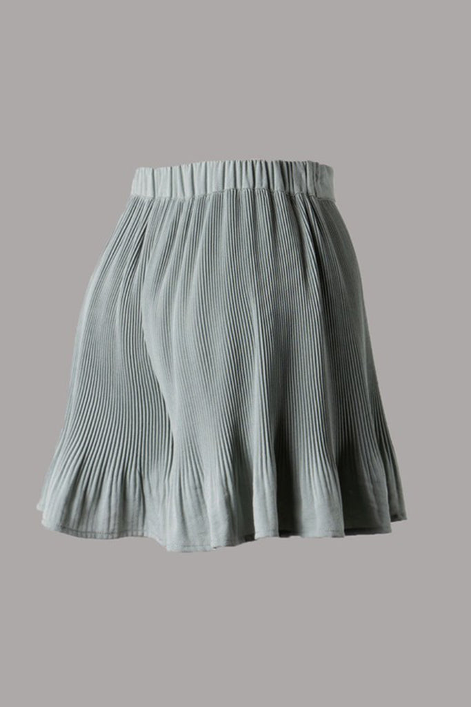 Sage Pleated Flare Shorts