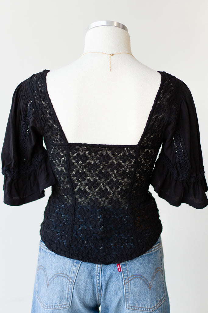 When You Were Mine Lace Top By Free People