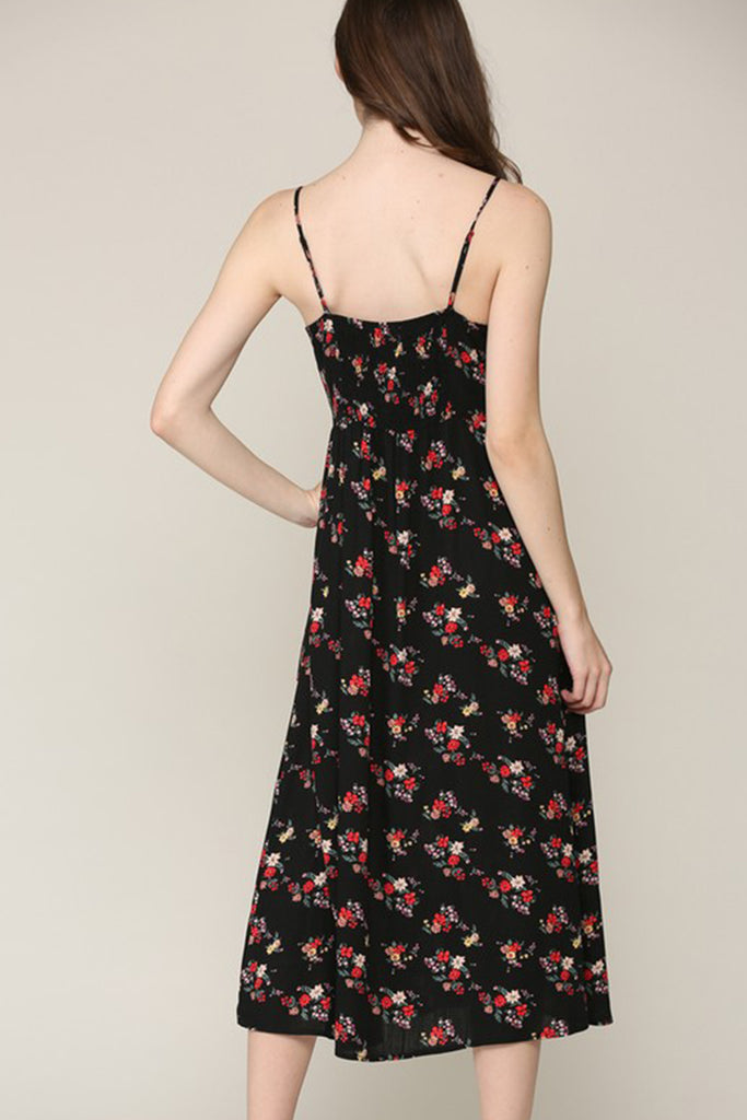 I'd Like To Know Floral Midi Dress