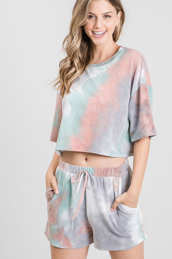 Island Time Tie Dye Crop Top