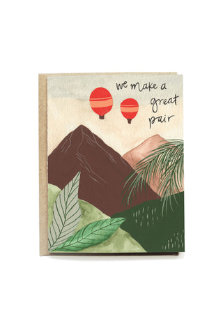 Hot Air Balloon Greeting Card by Pen + Pillar