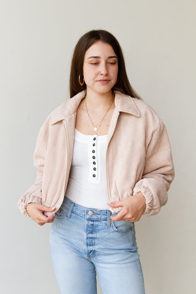 natural cropped jacket