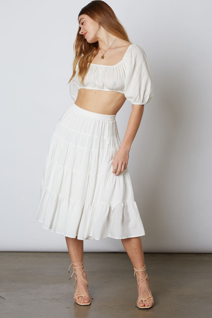 Looks Gorgeous Ruffle Midi Skirt