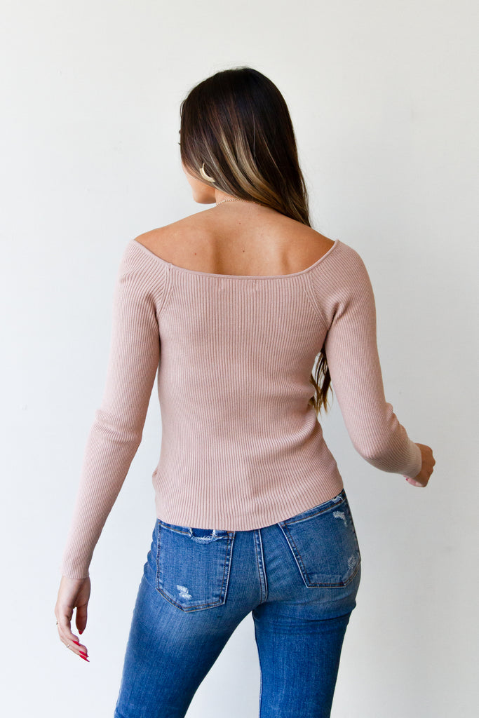 pink runched top