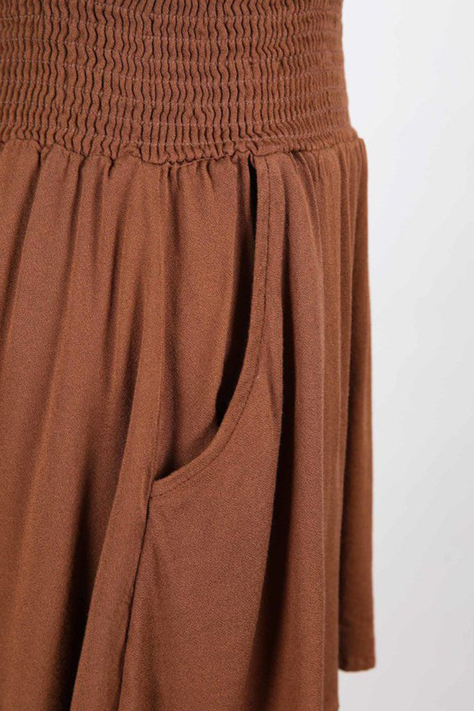 brown flowy shorts