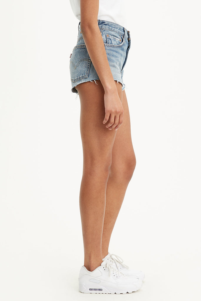 lightly distressed shorts
