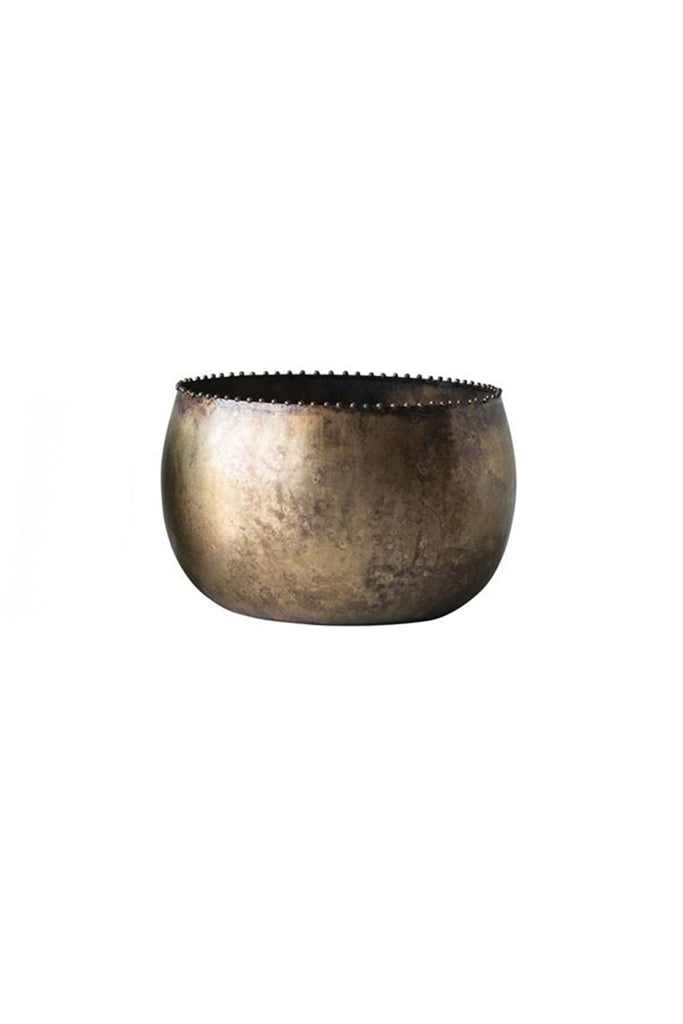 Antique Metal Brass Planters by For Good