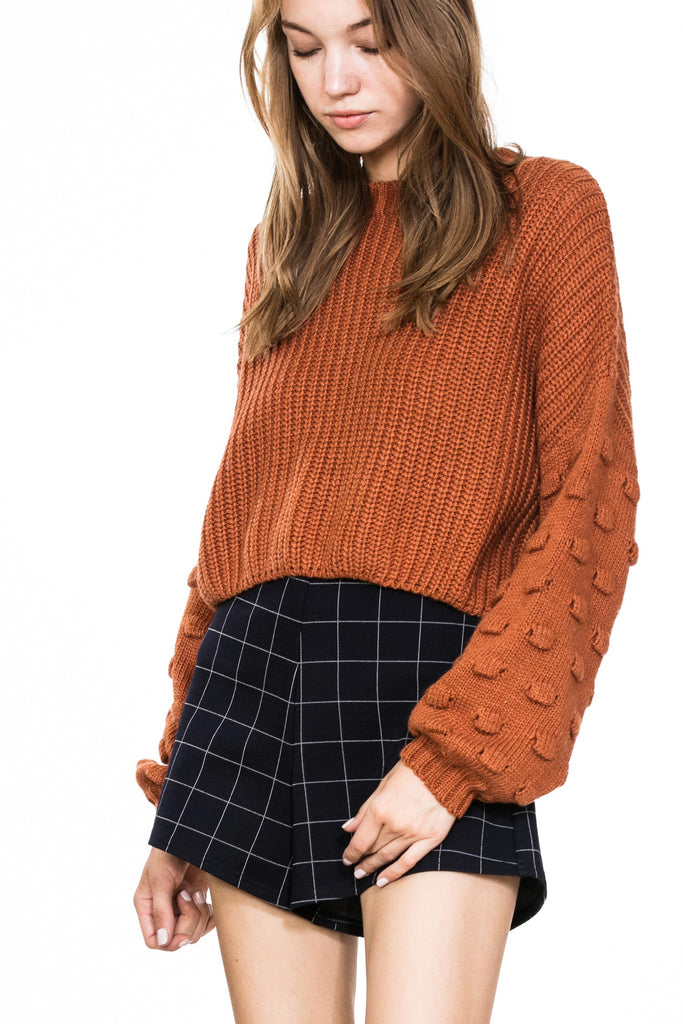 rust crop sweater