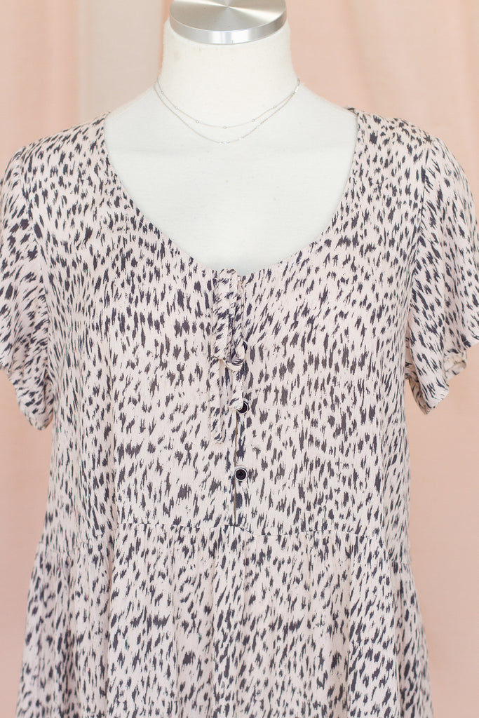 Lost In My Mind Animal Print Dress by For Good