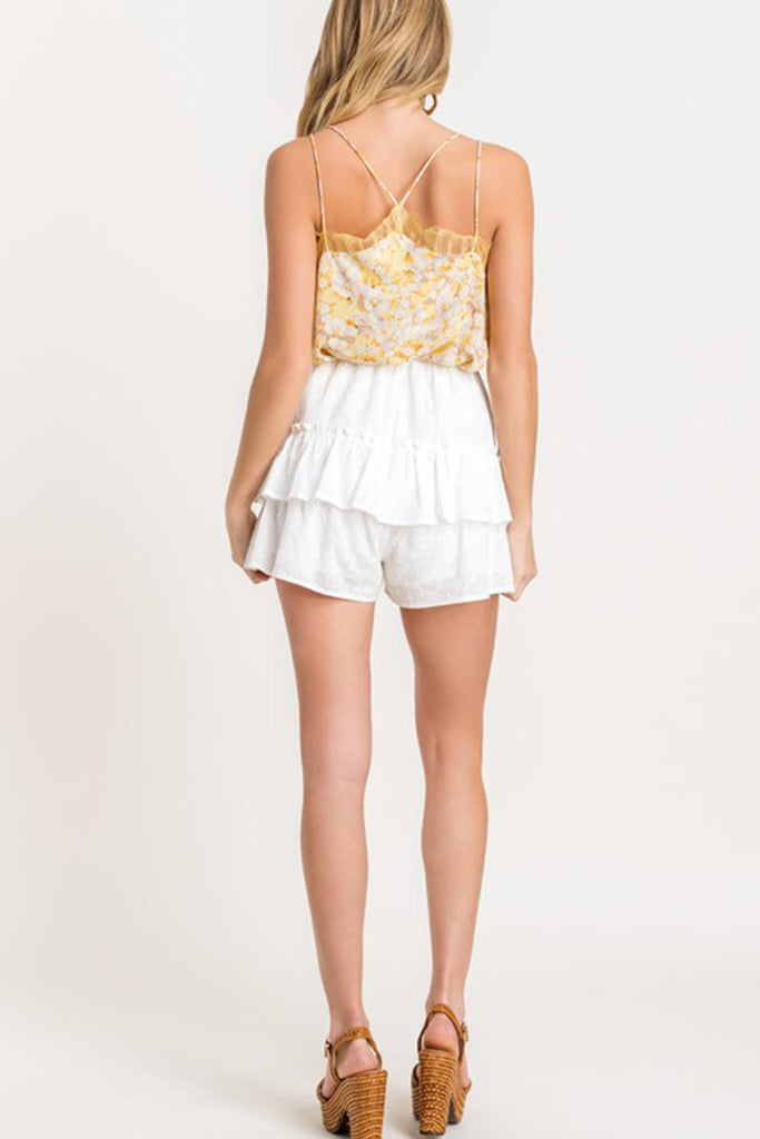 Better Love Eyelet Ruffle Shorts