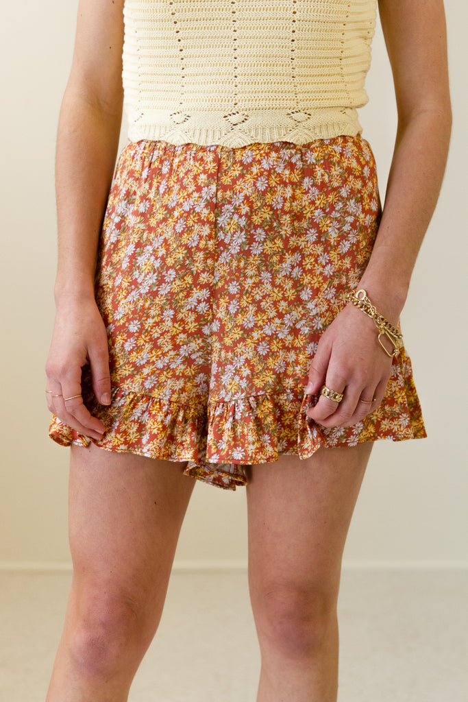 Higher Love Floral Shorts by For Good