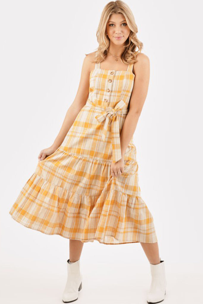 Boho Dreams Plaid Dress